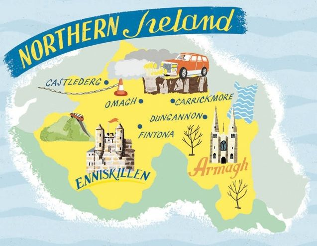 Anna Simmons - Map of Northern Ireland