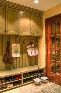 we want a bench for our foyer/mudroom and i love the idea of shoe storage underneath