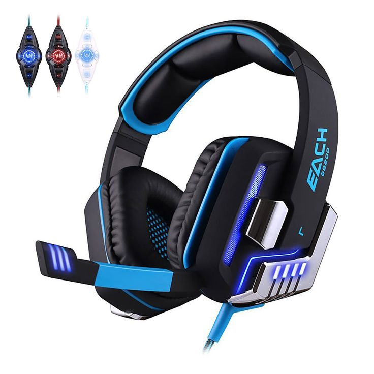 Each G8200 Professional Gaming Headset Headphones for Computer 7.1 Surround Sound Vibration Function with Mic Glowing Headphone //Price: $US $39.83 & FREE Shipping //     #iphone