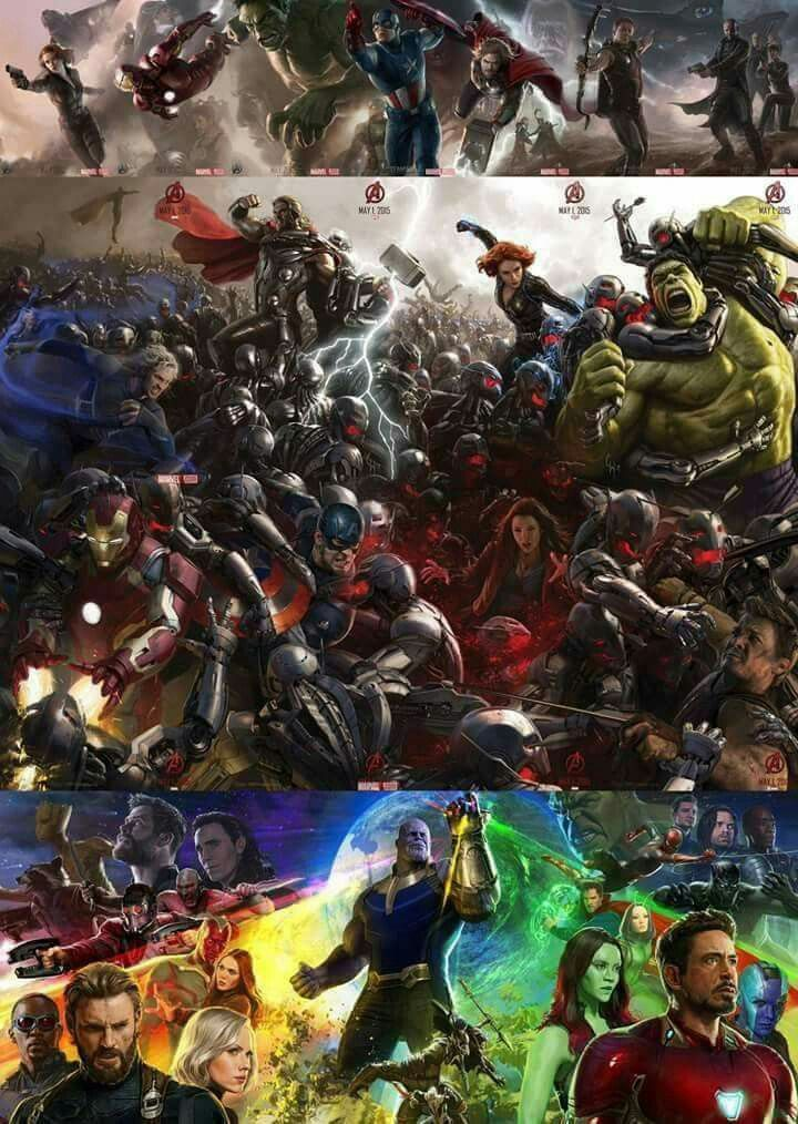 Avengers  Avengers age of ultron Avengers infinity war