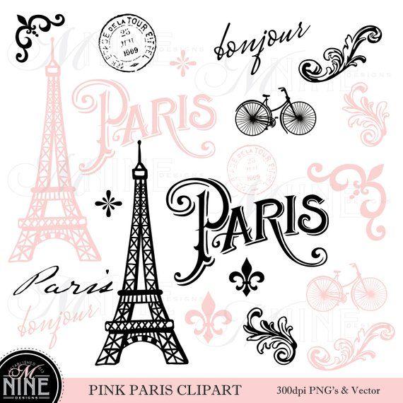 Pink Paris Clip Art Paris Theme Clipart Download Parisian Clip Art Vector Paris Clip Art Eiffel Clip Art Pink Paris Paris Theme