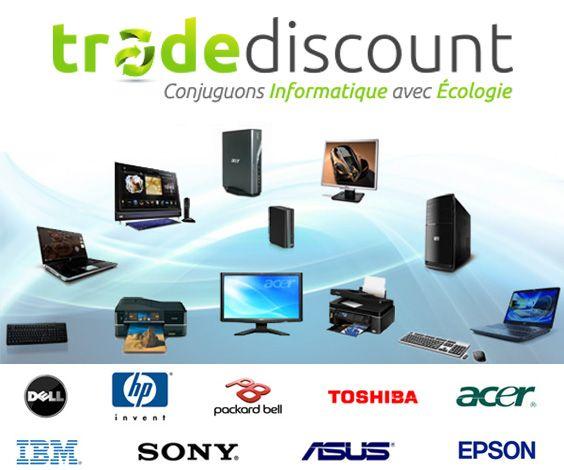 Trade Discount propose des PC et du matériel high-tech d'occasion ou reconditionné, provenant des reprises de parcs informatiques des grandes sociétés, ainsi que des modèles d'exposition des magasins.