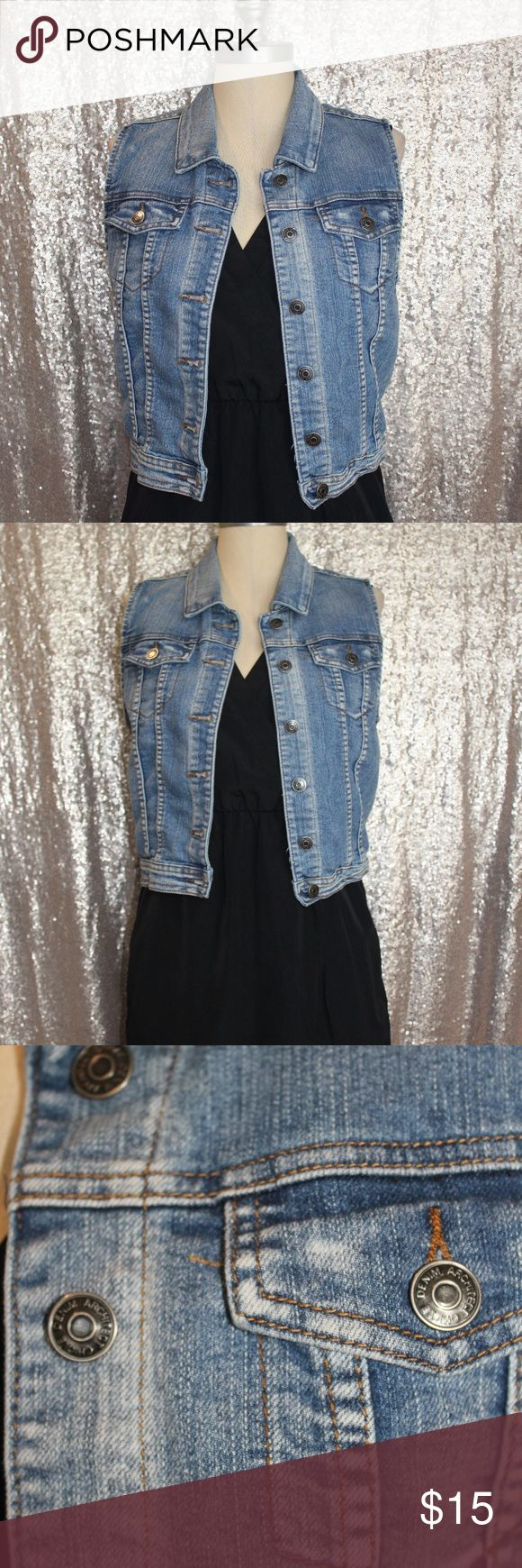 Sleeveless Jean Jacket Preowned Sleeveless Jean Jacket.  Size: L Chiqle Jackets & Coats Jean Jackets