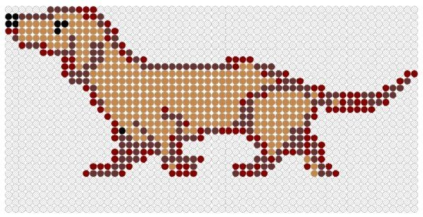 #Dachshund Perler Bead Pattern: Beads Patterns, Pearler Beads, Perler Beads, Dachshund Patterns, Perlerhama Beads, Weiner Dogs, Pixel Art, Hama Patterns, Dachshund Perler