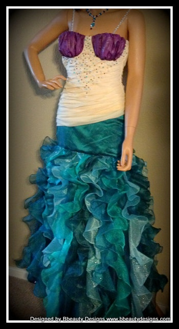 Couture Ariel Inspired Mermaid Under The Sea Enchanted Fin