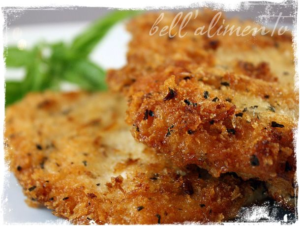 Parmesan & Panko Crusted Chicken. Stays moist! It's quick, easy & delicious.