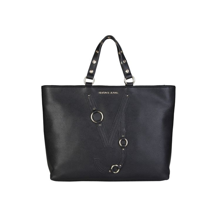 Versace Jeans – E1VPBBB4_75586 – Shopping Bag of eco-leather, 2 handles, zip fastening, lined interior, shoulder strap, dust bag included. Inside it, one zip pocket, two inside pockets. It is of size: 39*31*13 cm.   https://fashiondose24.com