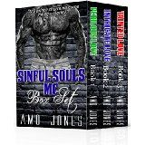 Sinful Souls MC Box Set, (#1-3) by Amo Jones