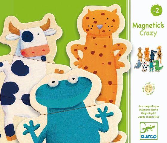 Vicces mágneses állatkák kirakós játék (Djeco) | Pandatanoda.hu Játék webáruház