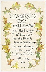 Vintage Thanksgiving Day Greeting
