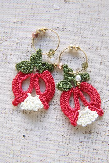 oya crochet earrings ♡