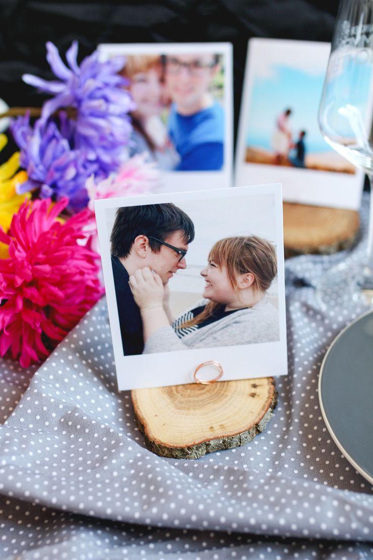 Schön Zum Wedding Wednesday Wird Heute Mal Ein Bisschen Gebastelt! Aus Runden  Holzscheiben Und Polaroid