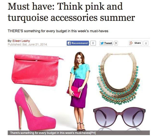 Dubbed a #musthave by The #DailyExpress in their #summer #fashion feature. This #clutch allows you to add a pop of #pink to your #SS14 wardrobe. It can either be a #slouch clutch or unravelled for an #oversized clutch #bag. We recommend styling the bag with #white cigarette #trousers and a white #crop tee to keep the focus on the #statement pink bag.