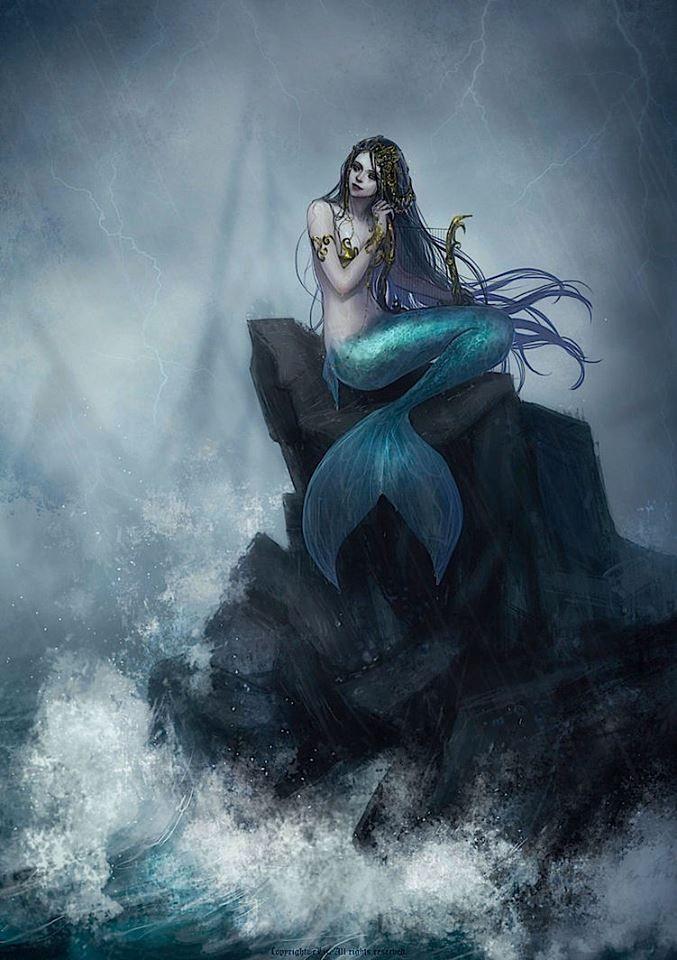 Mermaid Art & Origins of Mermaid folklore: An Art Gallery of ...