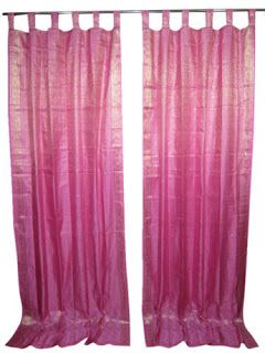 Bohemian Style Clothing : Indian Silk Sari Window Curtains #curtains #Windowcurtains
