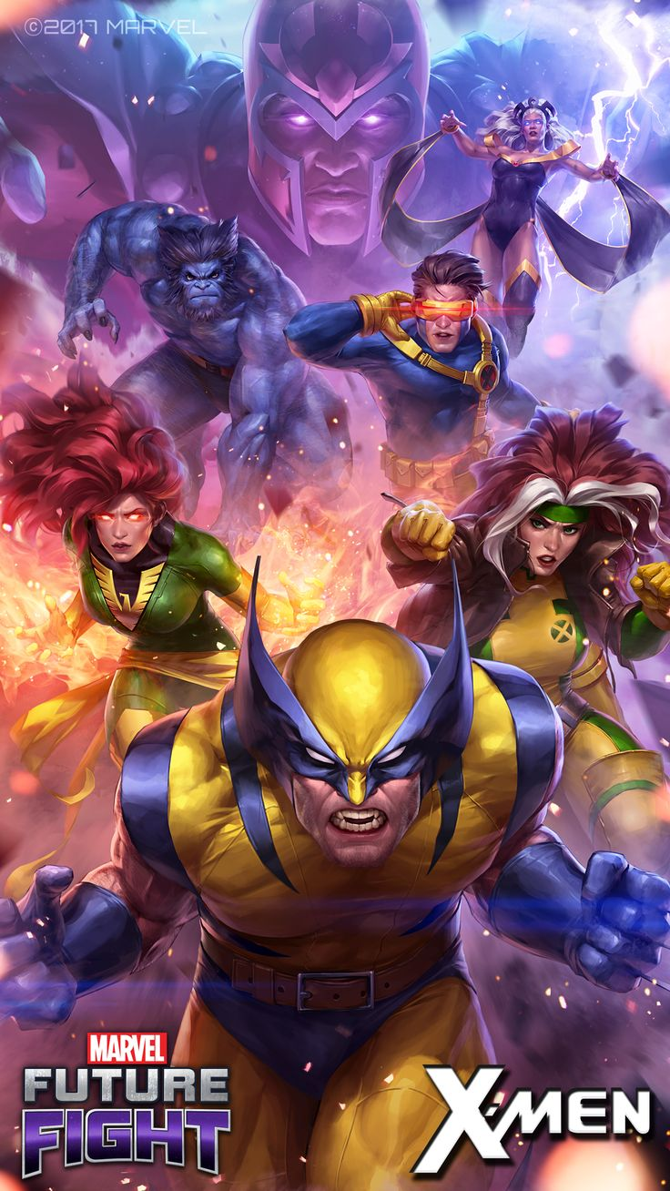 Marvel Future Fight Key-Art Illustration for v3.1.0 X-men Vertical image