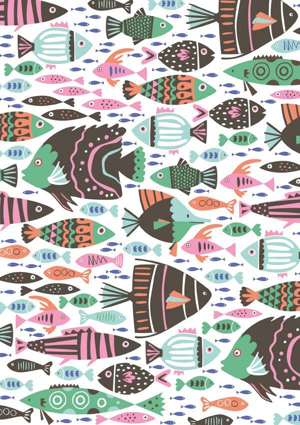 kawaii fish pattern
