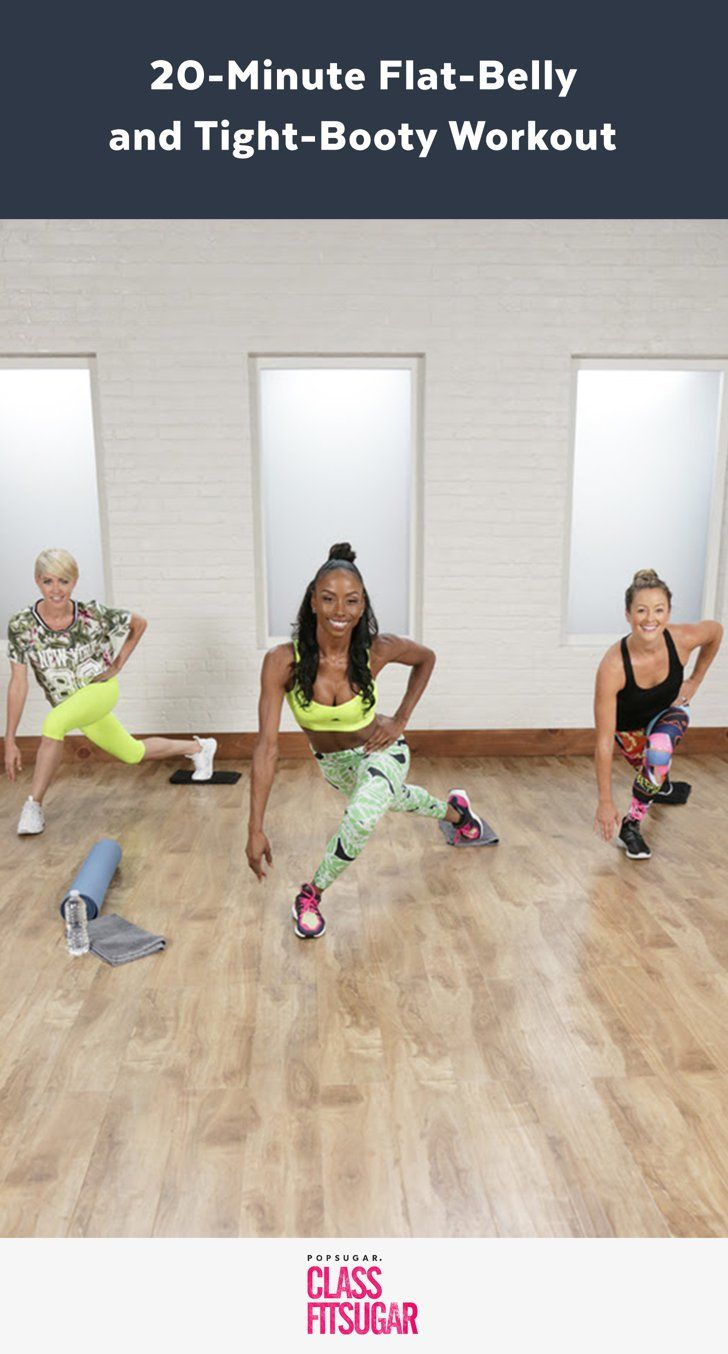 A Flat-Belly and Tight-Booty Workout Celebs Love:  glider moves.  Glider side lunge and side click (other leg), glider elbow plank cross knee drive the add plank jack in middle.  Glider V pike with wide straddle legs.