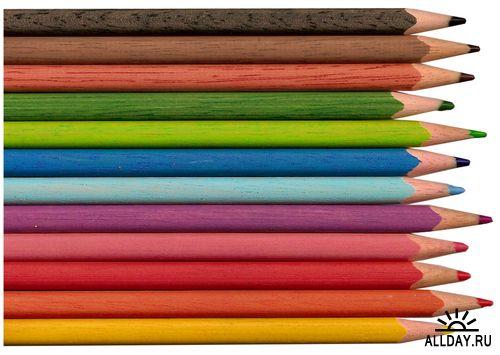 Pencils - colored, waxy, simple and mechanical | Карандаши - цветные, восковые…