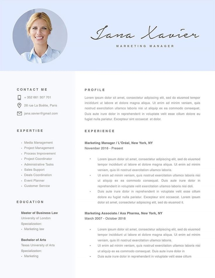 20 best Resume Template images on Pinterest Resume examples - law school resume template