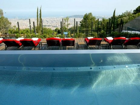 Luxury Spa's in Barcelona - shinnering Outdoor Swimming Pool At Zen Zone Spa