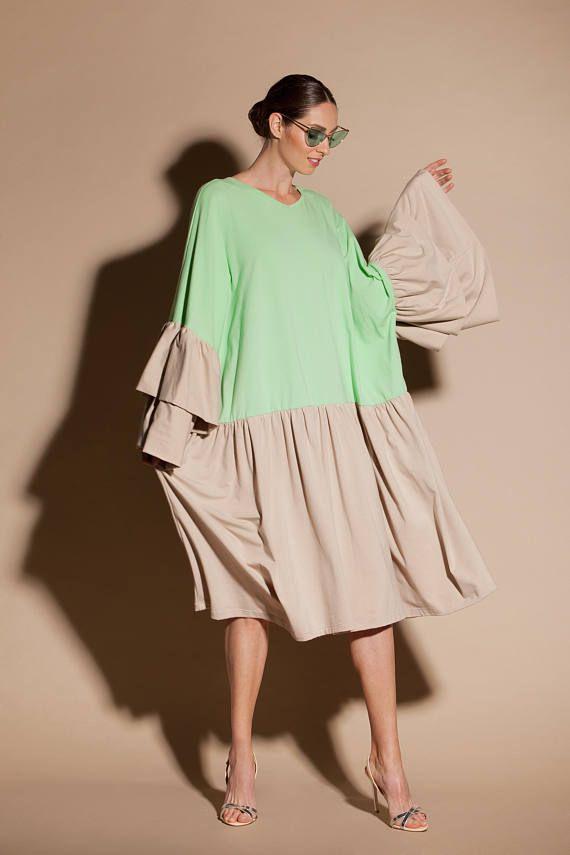 43563f5bd7c31b Beige dress  Beige maxi dress  Beige maternity dress  Ruffle dress ...