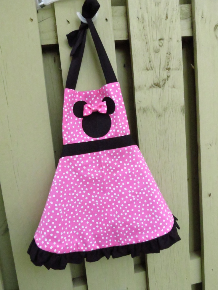 Minnie Mouse apron. $24.00, via Etsy.