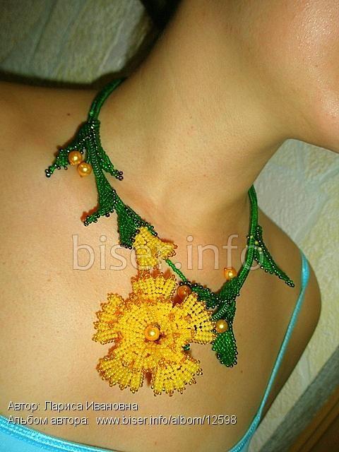 """Ожерелье """"Цветочная гирлянда"""""""