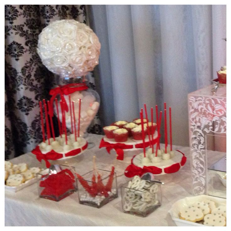 Beautiful red and silver sweet Bar