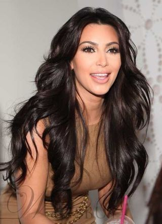 Kim Kardashian Super Long Natural Wave wigs;150% Density Lace Front Wig