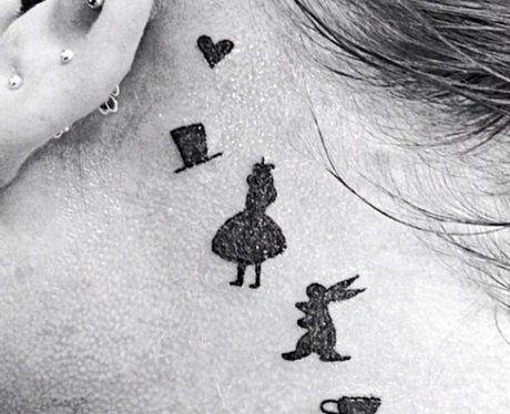 Small Disney Alice in Wonderland Tattoo