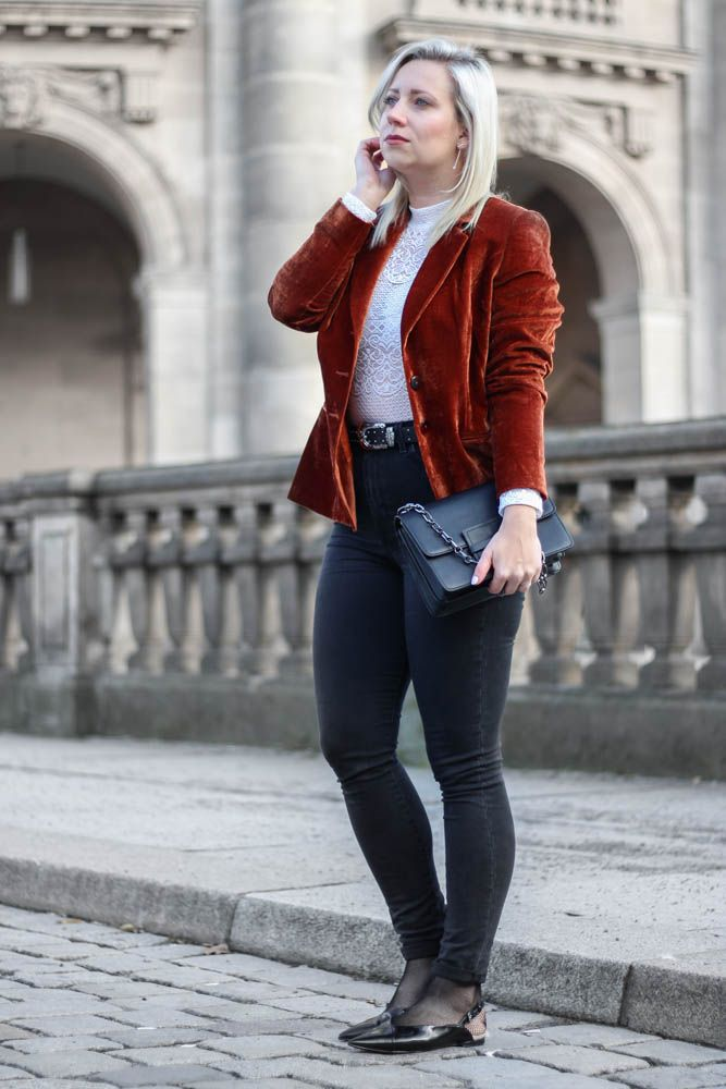 Outfit: Velvet Blazer // Herbst Trend Samt // Inspiration by puppenzirkus.com