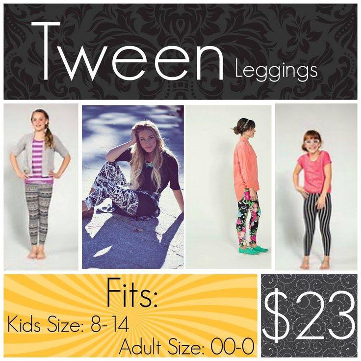 Tween Leggings LuLaRoe Fits Kids Size 8-14 $23.00