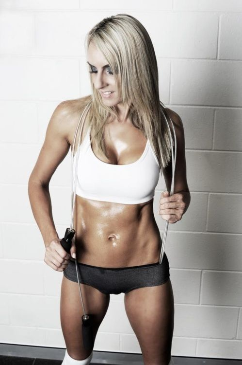 Want this kind of definition? Our Markham personal trainers can get you there.   | Repinned www.pinterest.com/muskelfarm/ Get more info on the Ultra Speed Cable Jump Rope here: http://betacorehealth.com/ultra-speed-cable-jump-rope/