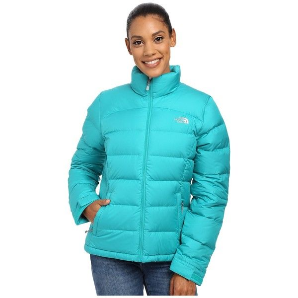 The North Face Nuptse 2 Jacket Women's Coat ($220) ❤ liked on Polyvore featuring outerwear, coats, the north face, drape coat, blue coat and the north face® coats