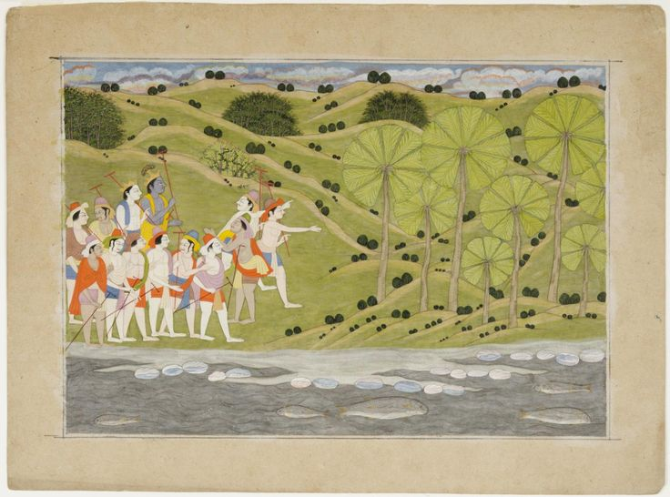 Philadelphia Museum of Art - Collections Object : Krishna and Balarama Hear About the Demon in the Palm Grove
