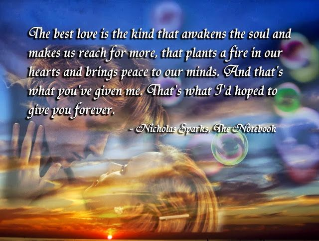 Nicolas Sparks, The Notebook Quotes