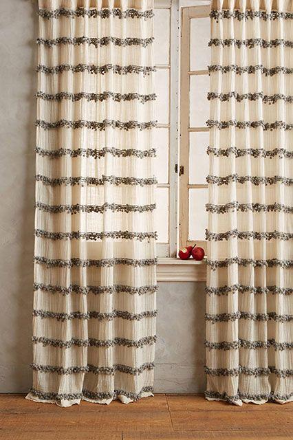 Anthropology swing stripe curtains