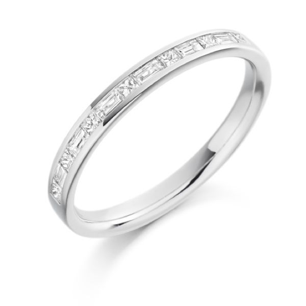 diamond over ring full semi bands princess platinum set eternity band rub cut