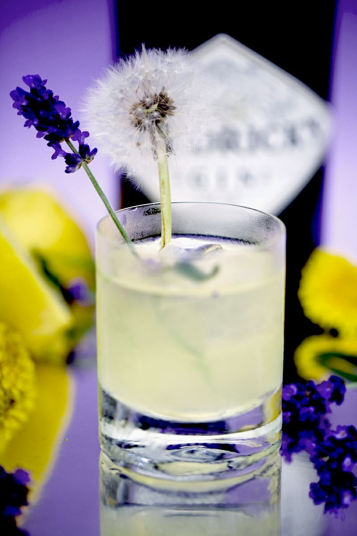DANDELION, LAVENDER DRINK MADE WITH HENDRICKS'S GIN