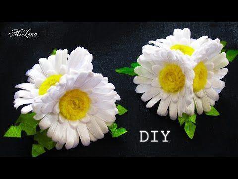 РЕЗИНКИ С РОМАШКАМИ, МК /  DIY Daisy headband - YouTube