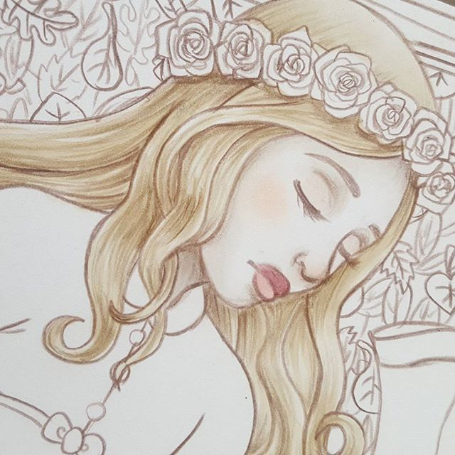 Here's a sneak peek at the art you'll see in tomorrow's video! It's for the YouTube Artists Collective, and the theme this time is Grimm's Fairy Tales. The story I chose is pretty hard to figure out from this closeup, but feel free to guess which it is anyway! #YTAC #art #illustration #fairytale #bayleejae