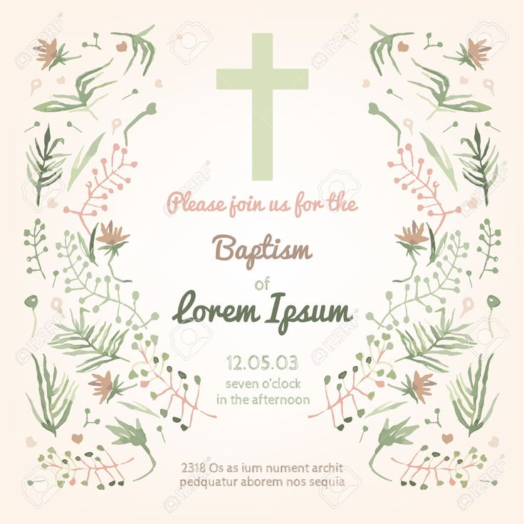 42558600-Beautiful-Baptism-invitation-card-with-floral-hand-drawn-watercolor-elements-Cute-and-romantic-vinta-Stock-Vector.jpg (1300×1300)