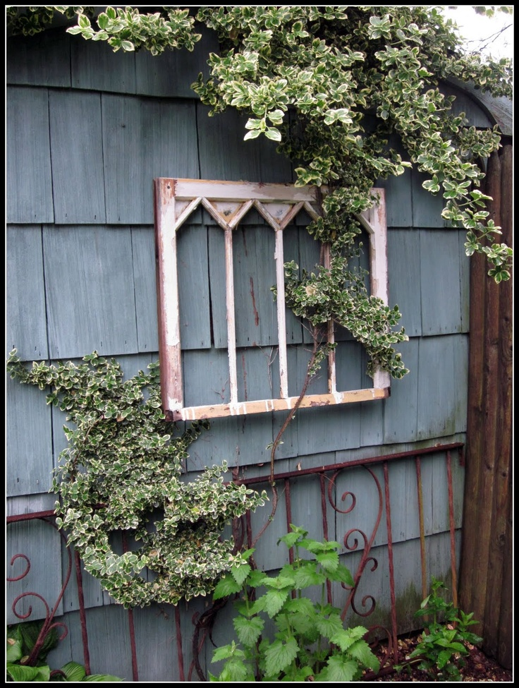 find this pin and more on gardening rustic garden ideas - Garden Window Ideas