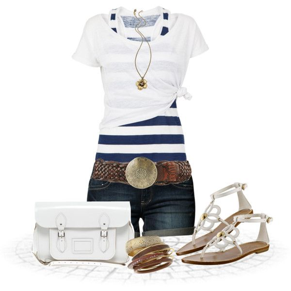 Casual Outfit: Summer Fashion, Fashionista Trends, Super Cute, Outfits Ideas, Cute Summer Outfits, Casual Outfits, Jeans Shorts, Summer Clothing, Belts