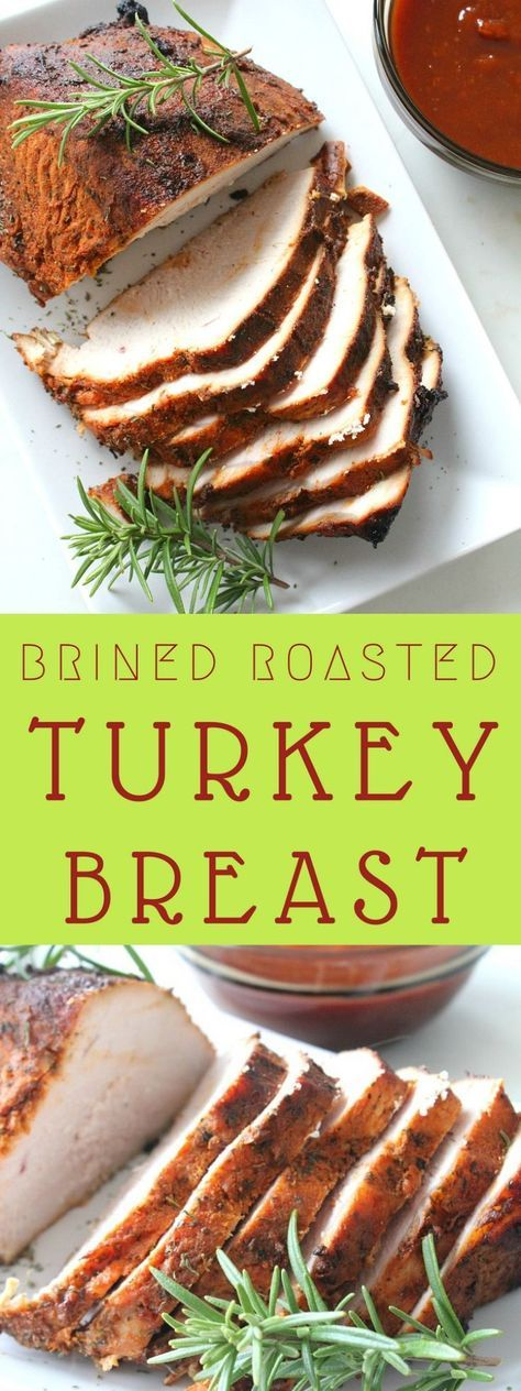 BRINED ROASTED TURKEY BREAST RECIPE - If you're not cooking for a large crowd for Thanksgiving, roasting a whole turkey might seem like such a waste. This brined roasted turkey breast might be the best option for you! #turkey #thanksgivingrecipes #turkeybreast