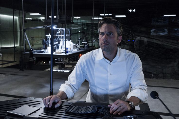 """Batman vs. Superman: Dawn of Justice"" movie still, 2016.  Ben Affleck as Bruce Wayne / Batman."