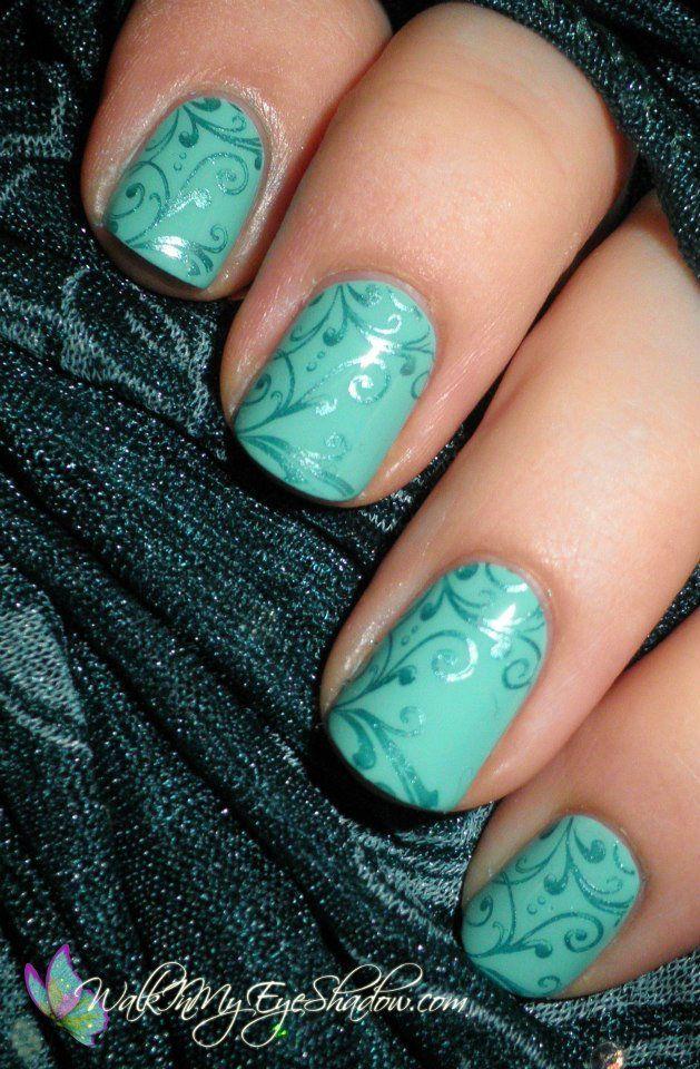 46 Awesome Wedding Aqua Nail Art