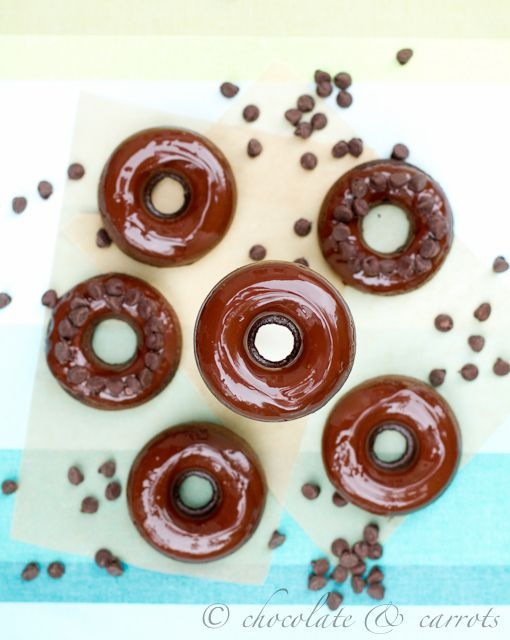 Whole Wheat Chocolate Baked Donuts-2921