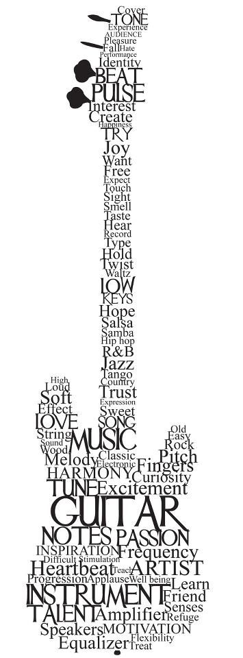 Guitar of words! LOVEEE THIS design!!!! I could totally re-creat this!